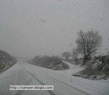 Primera nevada del año en Samper de Calanda